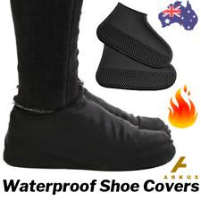 🔥 BLACK Silicone SHOE COVER Rain Water WATERPROOF Non Slip RUBBER Foot Gum Boot