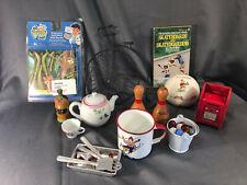 Vtg Toys Teapot Marbles Bike Mailbox Bunnykins Bank Skateboard Book Bowling Play