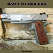 Colt 1911 Rail Gun Brown,Gray,Brushed Silver Metal Blowback Co2 Airsoft Gun