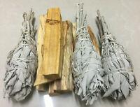 10 Palo Santo Sticks & 3 White Sage Smudge Torch | Smudge Kit Refill