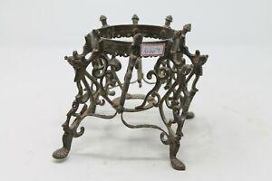 Antique RARE Brass MUGHAL Islamic Bird Engrave Hookah / Pot Tripod Stand NH6207