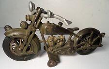 "1930's HUBLEY HARLEY DAVIDSON SOLO GREEN MOTORCYCLE 9"""