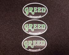 GREEN Matamp USA DECALS x3 OFFICIALTRADEMARK LOGO