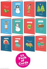 Brainbox Candy Christmas Xmas card multi pack of 12 funny cheeky humour