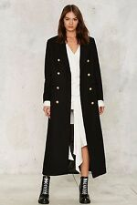 nasty gal Captain Obvious Wool Coat lioness new with tags black XSMALL