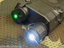 Airsoft PEQ-15 LA5 FMA Torch White LED w/  Green Laser Sight 20mm Rail AEG (56)