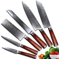Yarenh Kitchen Knife Set 6 Pcs - Professional Chef Knife Sets Japanese Damascus