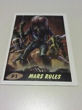 Mars Attacks: Occupation 2015 Topps Promo Card P1 Tan Mars Rules Movie Aliens