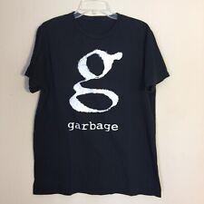 Garbage Band Alternative Rock T Shirt Shirley Manson G Logo Tee Men's Large
