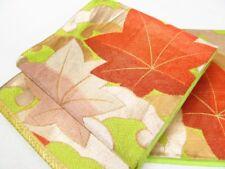 Japanese Kimono SILK FUKURO OBI MAPLE LEAF (4360-1001)