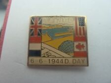 PIN'S 2eGUERRE MONDIALE  39/45  / ARROMANCHES  / D.DAY  6/06/ 1944