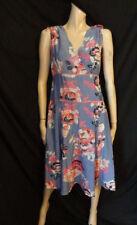 (126OCT) Size 10 Eu38 *MONSOON* Chic blue print silk-rich dress ladies/womens