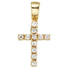 Runde Religiöse Echtschmuck-Halsketten & -Anhänger aus Gelbgold
