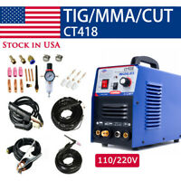 CT418 TIG/MMA/Cut 3IN1 Air Plasma Cutter Welder Welding Machine & Torches