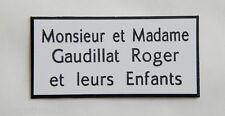 plaque gravée boite aux lettres personnalisée 3 lignes ft 25 x 50 mm biseautée