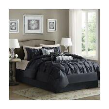 Madison Park Laurel Cal King Size Bed Comforter Set Bed In A Bag - Black , Wr.