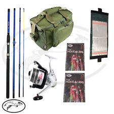 Sea Fishing Kit 4piece Rod, Vigor Reel With Line Mackerel Rigs Wallet & bag NGT