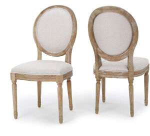 Christopher Knight Home Phinnaeus Fabric Dining Chairs (Pair) Beige