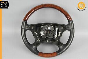07-09 Mercedes W211 E320 E550 E350 Steering Wheel Black w/Wood Trim OEM