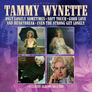 Tammy Wynette -  Only Lonely Sometimes  first 4 albums on  2-cd  new in seal
