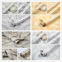 Marble Textured Wallpaper Roll Contact Paper Vinyl Self Adhesive Wall Sticker 5M