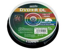 10 Hi-Disc DVD+R DL 8.5GB 8x Speed Dual Layer DVD Discs Inkjet Printable