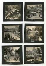 1925 Chinese Temple Air Itam Penang Malaysia 11 Original Antique Photos on card