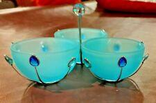 Swarovski Crystal Blue Jewel Bowls Retired