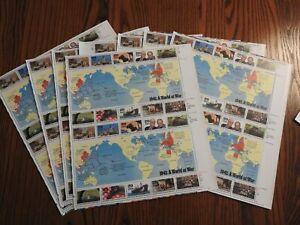 46 Full Sheets World At War 1941-1945 US Postage Stamps 267+ Face Army Military