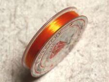 Bobine 10m - Fil Elastique 0.8-1mm Orange clair  4558550014085