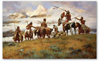 The Ploy - by Howard Terpning - giclee on canvas