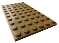 Lego 2 Stück Platten 6x10 in dunkel beige (dark tan) 3033 Neu Platte Basics