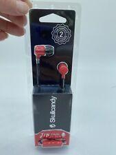 Skullcandy Red JIB In-Ear Buds Earphones Headphones w/Mic Headset Black Remote