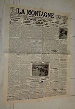 FAC-SIMILE A LA UNE JOURNAL LA MONTAGNE 25/06 1928 POINCARE FRANC TOUR DE FRANCE