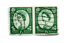 GB Regina Elisabetta II COPPIA presto Definitives; 1 SH 3d x 2 P/m London Wi USATO S *