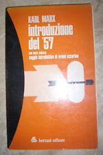 KARL MARX-  INTRODUZIONE DEL '57 CON TESTO TEDESCO - ED:BERTANI 1975 (KR)