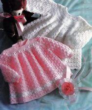 Baby Crochet Pattern  Angel Tops Dresses Copy 2 Styles  4 Ply