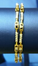 Diamond Bangles/Bracelets in 18k Gold (Pair) open able fit different wrist sizes