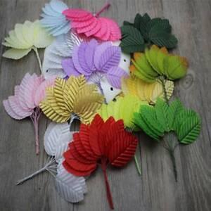 30pcs Mini Nylon Silk Leaf-shaped Leave Artificial Flower For Wedding Craft