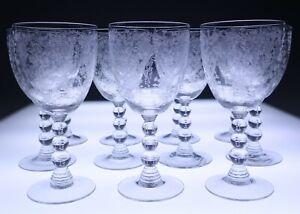 11 RARE SHAPE Duncan & Miller FIRST LOVE 8oz Water Goblets Wine Glass Vintage