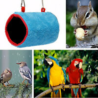 Plush Snuggle Hut Tent Bed Bunk Parrot Toy Bird Hammock Hanging Cave Cage.w/