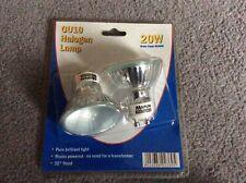 GU10 20W HALOGEN LAMPS X 2 (MAPLINS)