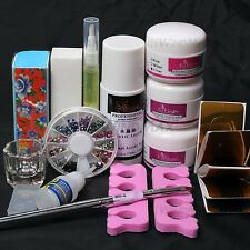 Nail Art Acrylic Liquid Brush Pen Buffer DIY Set Cuticle Oil Tip Decorations Kit