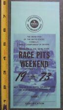 New listing 1973 Watkins Glen United States Grand Prix Formula 1 Pit pass