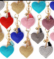 HEART Rhinestone Crystal Keyring Handbag Charm Key Chain Women Gift 'UK Based'