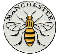 Manchester Worker Bee Mancunian Metal Enamel Badge or Brooch 25mm NEW