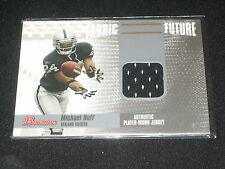 Michael Huff Raiders Star Legend Authentic Event Game Used Jersey Football Card
