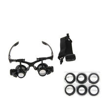 Portable Magnifying Glasses Loupe 10X 15X 20X 25X For Jeweler Watchmaker