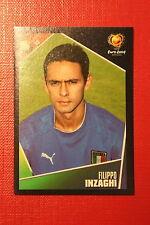 Panini EURO 2004 N. 235 ITALIA INZAGHI NEW With BLACK BACK TOPMINT!!