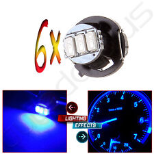 6Pcs Ultra Blue T4/T4.2 Neo Wedge 3SMD LED Bulb Dash Instrument Panel A/C Light